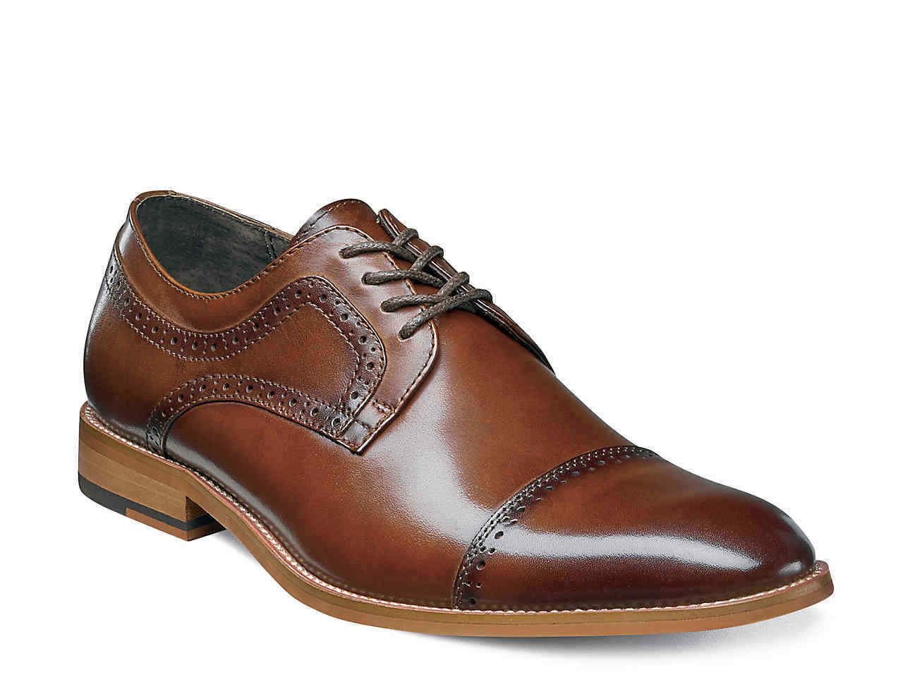 NEW - STACY ADAMS Men's 'DICKINSON' Brown CAP TOE OXFORD SHOES  -  10.5 W