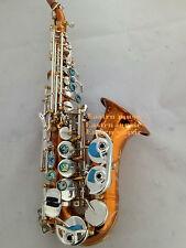 Professional Eastern Music Copper body curved soprano saxophone gold keys w/case