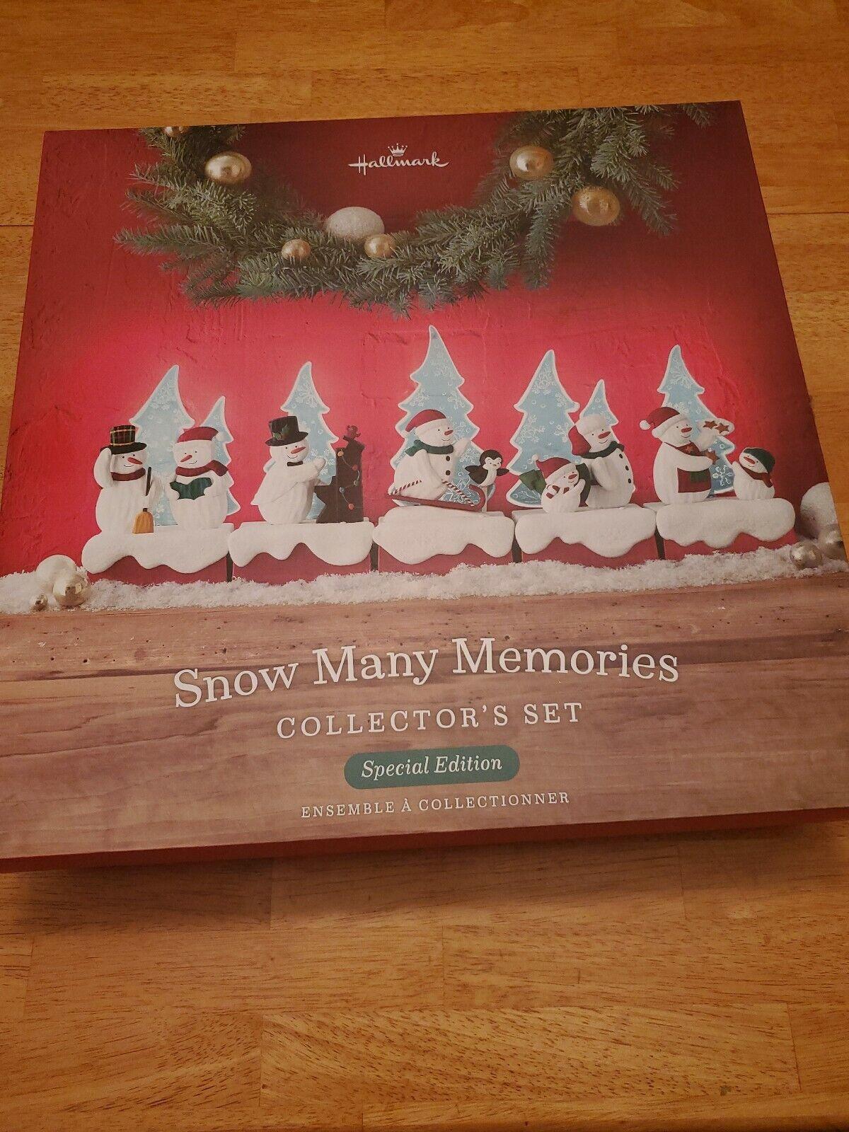 HMK Hallmark 2018 Continuity Snow Many Memories Special Edition Collectors Set