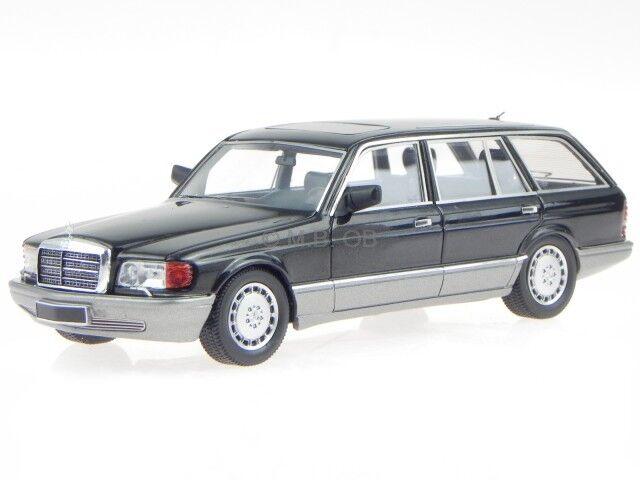 Mercedes W126 500 SEL break 1990 noir véhicule miniature 43037020 KESS 1 43