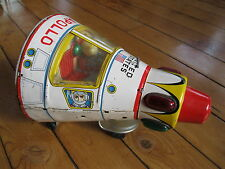 Antique large tin space toy  capsule Apollo Battery Operated vintage japan