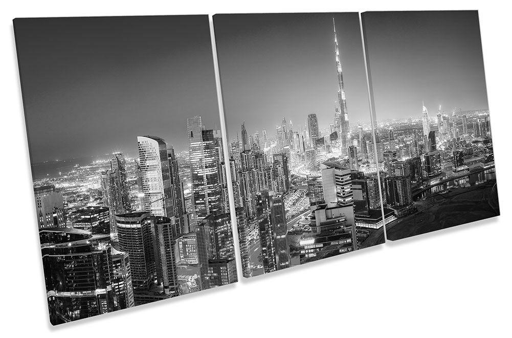 Dubai Cityscape SKYLINE B N ART. a Muro Immagine Stampa degli acuti