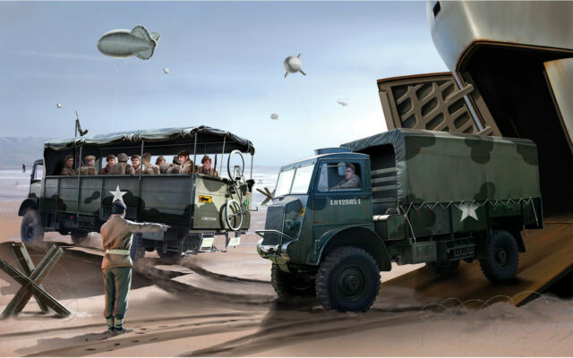 New Release Airfix 1:76th Scale Bedford QLT & Bedford QLD Trucks Model Kit.