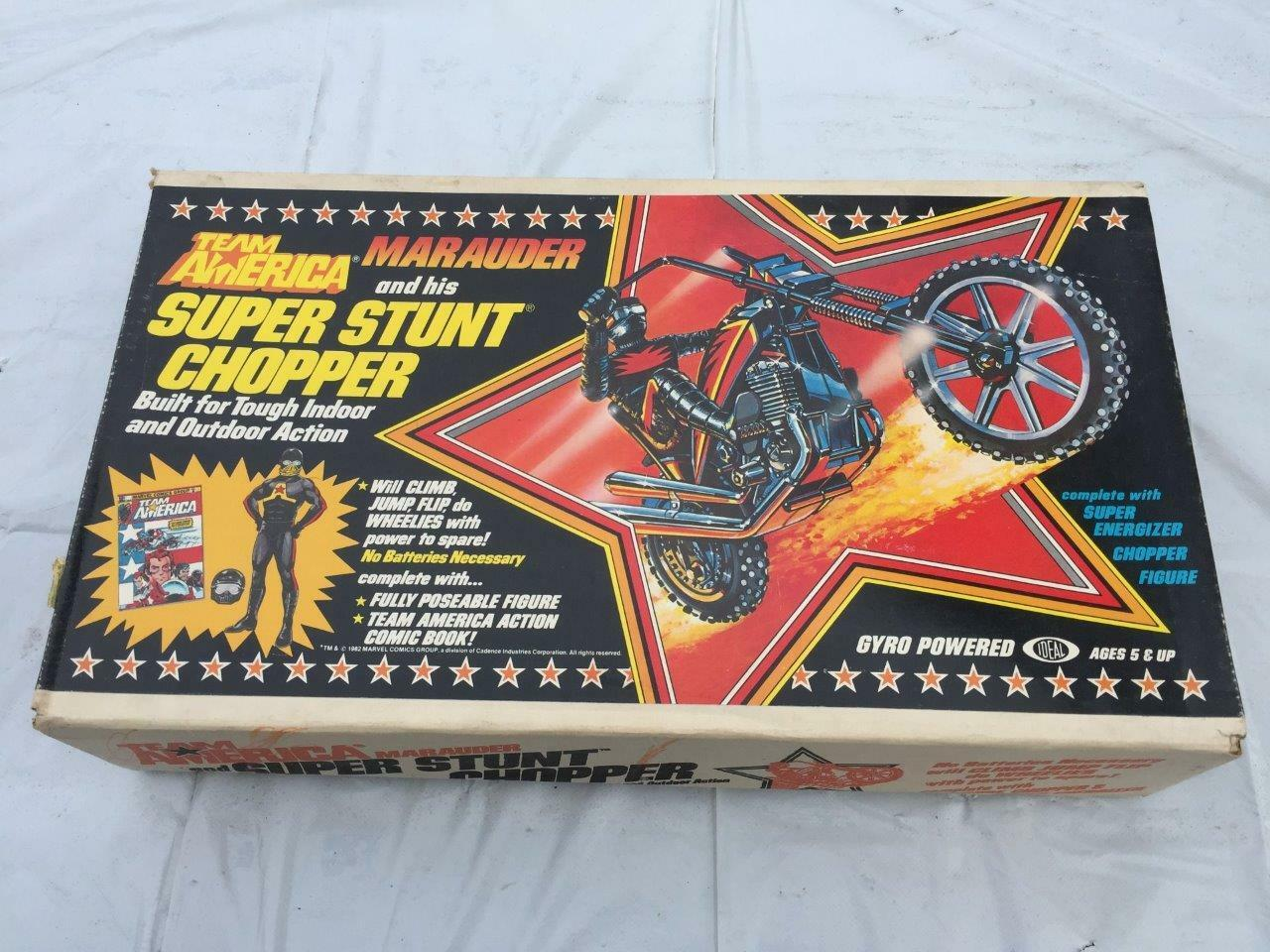 1981 IDEAL Team America Marauder Super Stunt Chopper Gyro Powered MIB SEALED