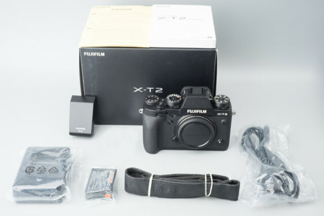 Fujifilm X-T2 24.3MP Mirrorless Digital Camera Body Only, Black, Fuji XT2, Boxed