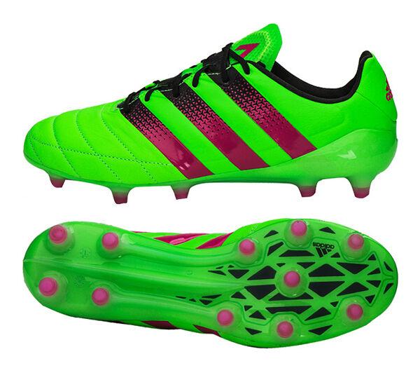 Adidas ACE 16.1 FG AG Cuero (AF5099) Botines De Fútbol Zapatos De Fútbol botas Botín