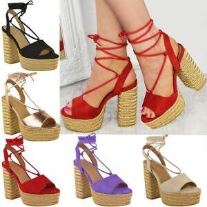 Womens Sandals Platform Wedges Heels Summer Boho Espadrilles