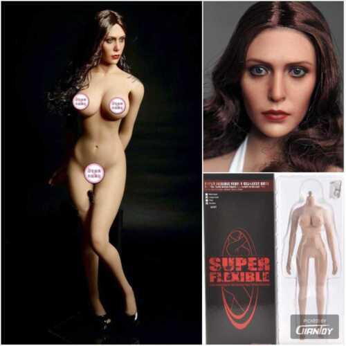 1//6 TBLeague Female 12in Figure Large Bust Body W//Scarlet Witch Head Sculpt