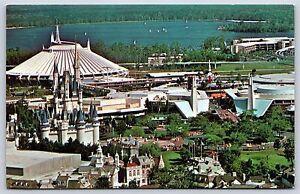 Aerial View Of Walt Disney World Skyline Magic Kingdom Chrome