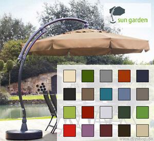 sun garden easy sun parasol ersatzbezug 350 8 polyester gratis ersatzschrauben ebay. Black Bedroom Furniture Sets. Home Design Ideas