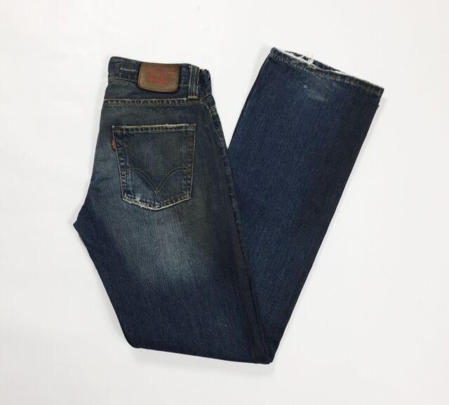 Levis 512 w29 L34 tg 42 43 jeans zampa bootcut usato blu rivestito denim T3095