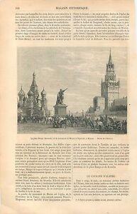 Place-Rouge-Moscou-Statue-Kouzma-Minine-amp-Dmitri-Pojarski-GRAVURE-OLD-PRINT-1861