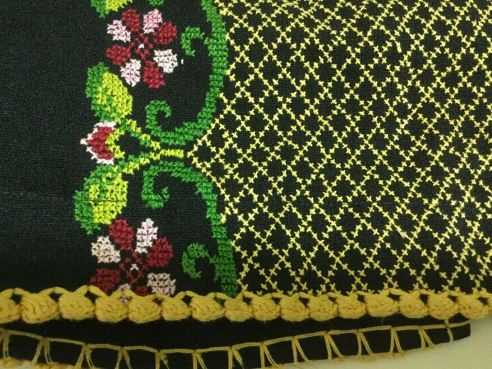 Hand made Embroiderey black Thobe  caftan dress G… - image 6