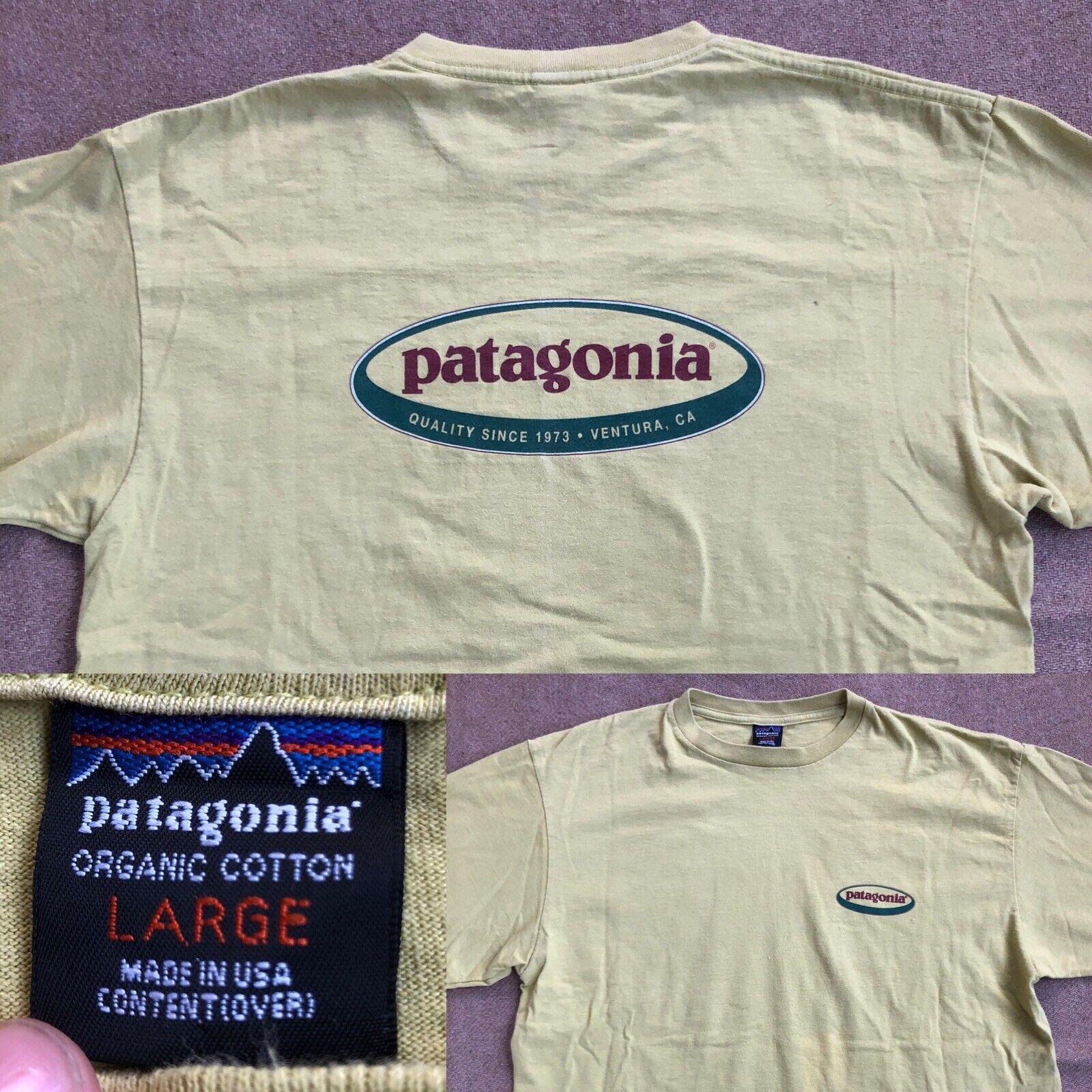 Rare Vtg 1990s Patagonia USA Graphic T Shirt Mens… - image 1