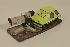 "4"" Acer Camera Man or Dash Boardman PVC Plastic Car on Stand Disney Pixar Cars 2"