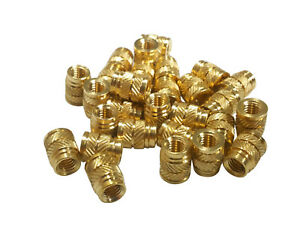 Details about 20x 1/4-20 Brass Threaded Heat Set Inserts for Plastic 3D  Printing Metal (Long)