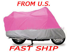 Honda CRF250R Dirt Bike NEW PINK ON SILVER Motorcycle Cover QQ L6