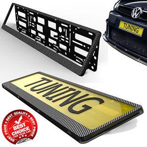 Image is loading CARBON-FIBER-CAR-TUNING-LICENSE-NUMBER-PLATE-HOLDER-  sc 1 st  eBay & CARBON FIBER CAR TUNING LICENSE NUMBER PLATE HOLDER SURROUND FRAME ...
