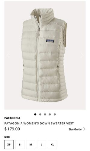 Patagonia Ws Down Sweater Vest  EXCELLENT!🏔🍁