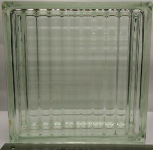 Rare-Vintage-Reclaimed-Glass-Block-Ribbed-Pattern-11-75-034-x-11-75-034-x-3-875-034-Green
