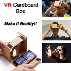 Details about 3D Virtual Reality Cardboard Glasses VR Viewer For Google  Android iPhone Samsung