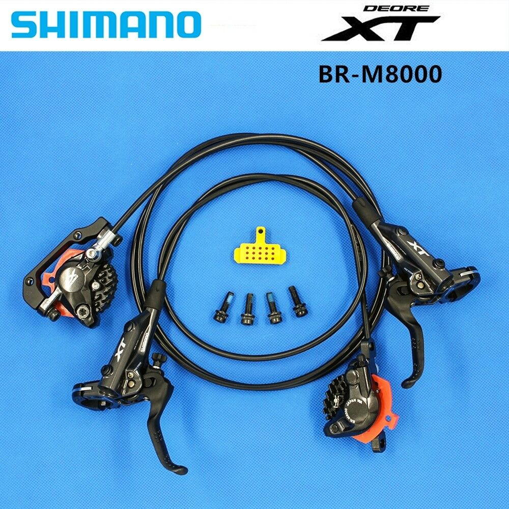 2019 Shimano Deore XT BR M8000 MTB Mountain Disc Brakes Hydraulic Front Rear Set