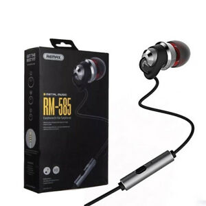 Details about Remax RM-585 HD Metal Music In-Ear Earphone with Microphone  for Smartphone