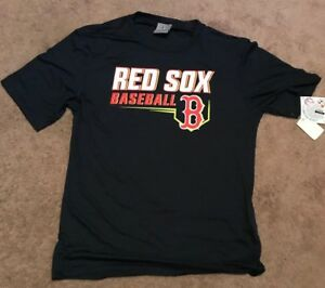 New-MLB-Boston-Red-Sox-Mens-Team-Logo-Performance-Athletic-Fit-Crew-Neck-T-Shirt