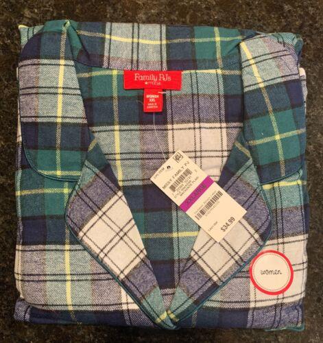 Family PJs Macys Womens Mackenzie Plaid Flannel Pajama Set Size XXL NWT