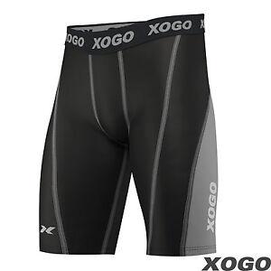 Pro-Para-Hombre-y-Chicos-armadura-de-compresion-Capa-Base-Pantalones-Cortos-Deportes-Termico-Bajo