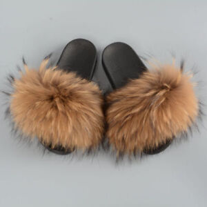 Fluffy-Real-Raccoon-Fur-Slippers-Women-Fashion-Slider-Spring-Summer-Indoor-Flat