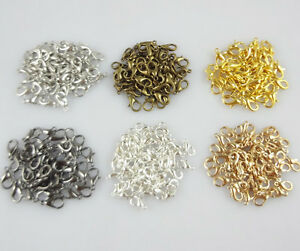 Lot 50pcs Pear Lobster Clasp Connector Ring End Hook Buckle DIY Jewelry Findings