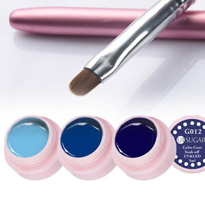 4pcs-set-Blaue-Farben-UV-Gel-Polish-amp-Nail-Art-UV-Gel-Malerei-Pinsel-Manikuere