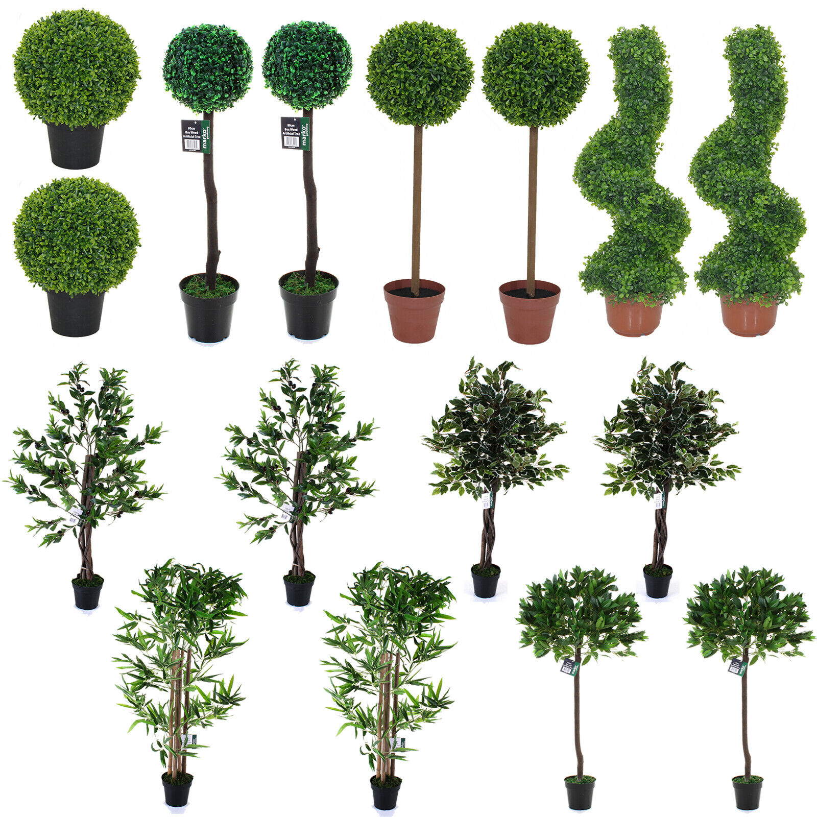 TOPIARY TREES ARTIFICIAL TREE 8 DESIGNS INDOOR   OUTDOOR GARDEN WEDDING AISLE