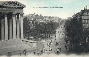 1920-039-s-VINTAGE-BOULEVARD-de-la-MADELEINE-PARIS-POSTCARD-PHOTO-in-LATE-1800-039-s