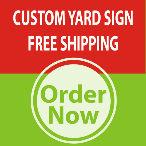 Metal Stakes 18 x 24-5 Yard Sign Custom Single Sided Print FULL COLOR