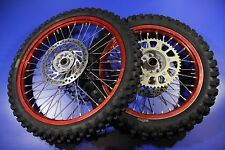 05-15 CRF250R CRF450R CR250R Wheel Front Rear Rim Hub Spokes Pro-Wheel Red Rims