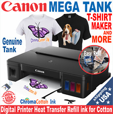 Canon Mega Tank Refillable Ink Printer T Shirt Maker Complete Starter Pack