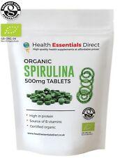 Organic Spirulina 500mg Tablets (Detox, Superior 65% + Protein) Choose Quantity