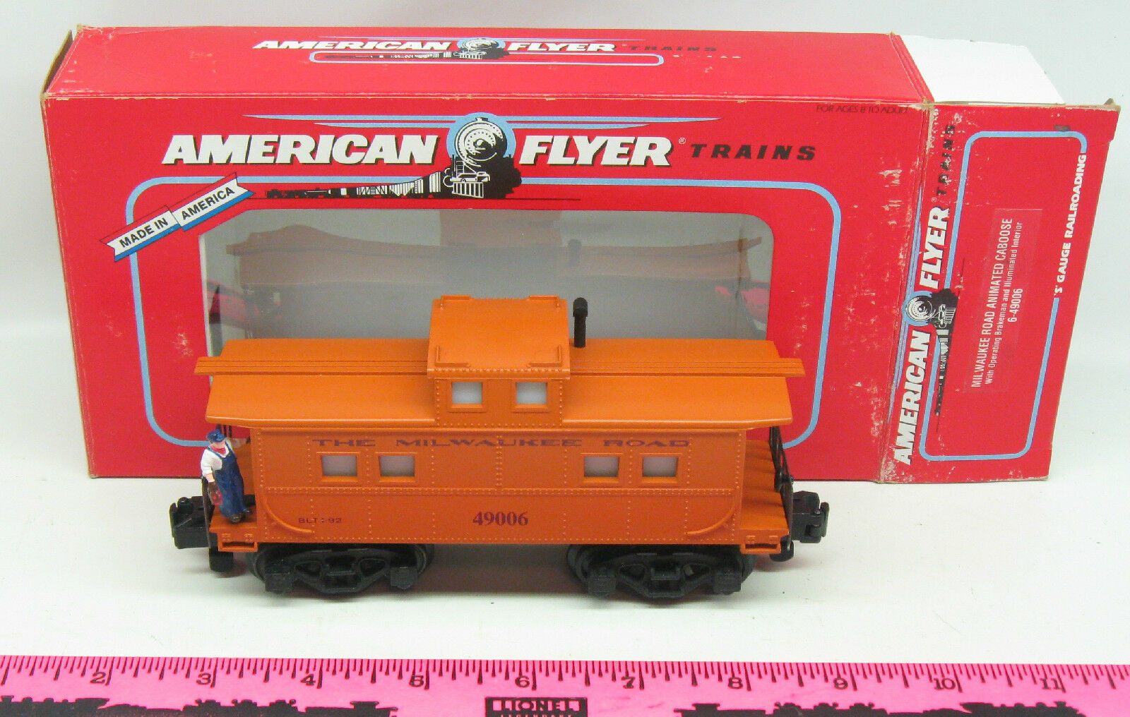 American Flyer  6-49006 Milwaukee Road animated caboose