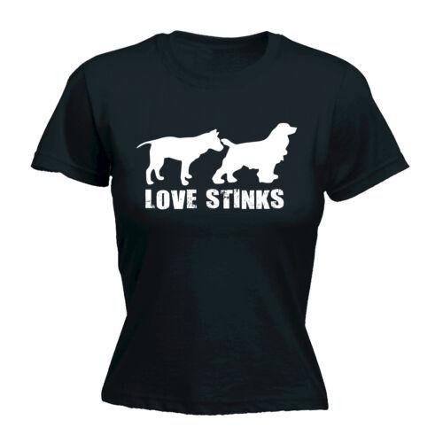Love Stinks WOMENS T-SHIRT tee birthday poop naughty dog rude girlfriend funny