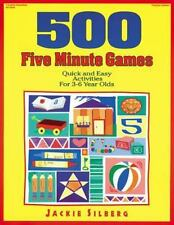 500 Five Minute Games: Quick and Easy Activities for 3-6 Year Olds-ExLibrary