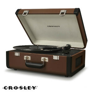crosley portfolio cr6252a br portable bluetooth turntable record player brown 710244217330 ebay. Black Bedroom Furniture Sets. Home Design Ideas