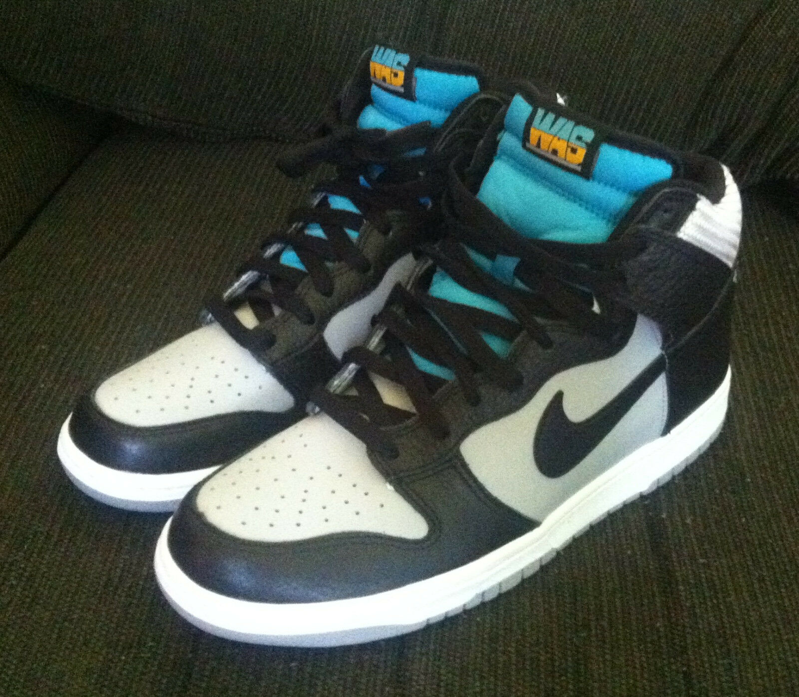 NIKE AIR DUNK HIGH WAS Mens Sz 9 Wolf Grey/Black/Turquoise NEW SRP=Price reduction The most popular shoes for men and women