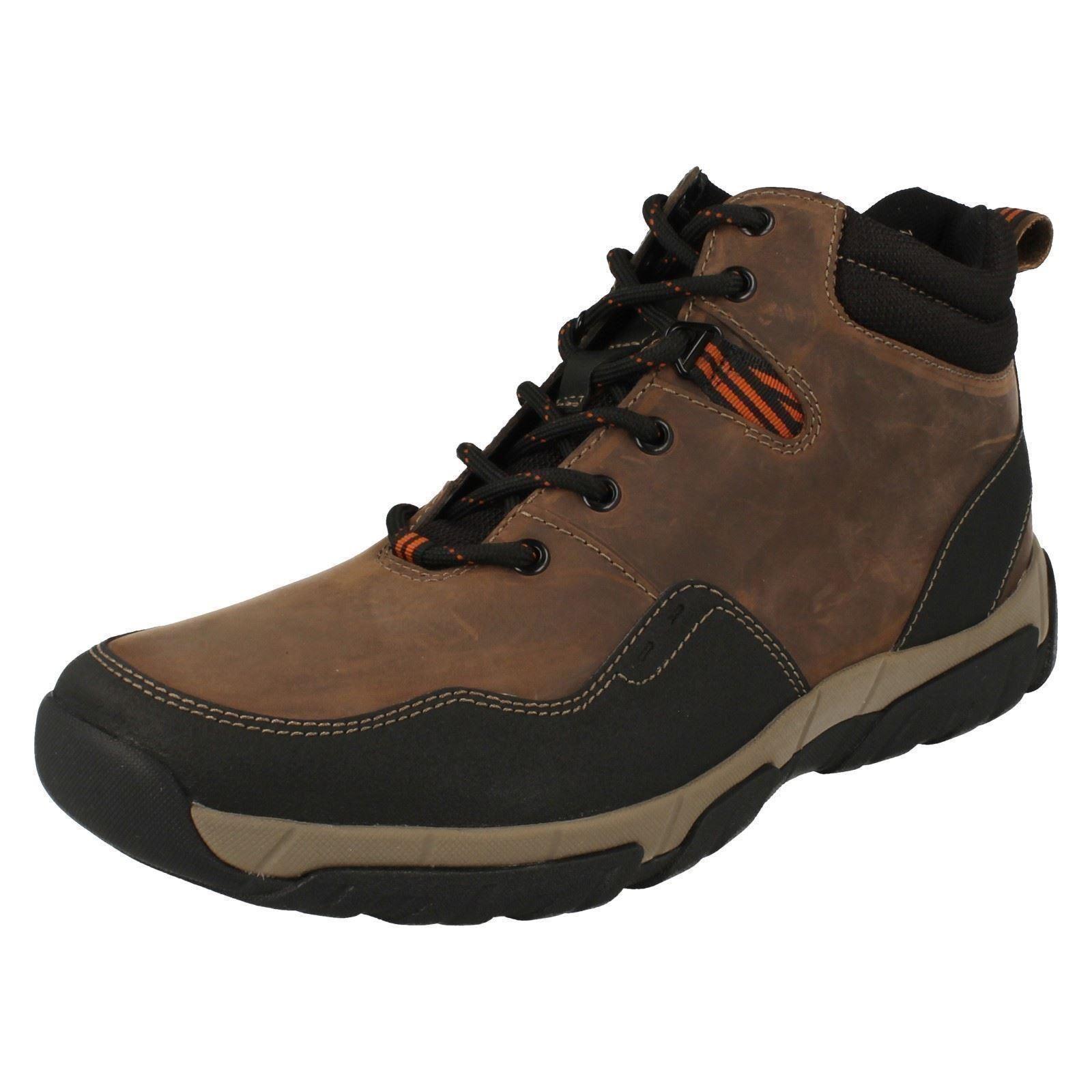 Clarks Walbeck Top Mens Brown Leather  Weatherproof Walking Boot (R38B) (Kett)