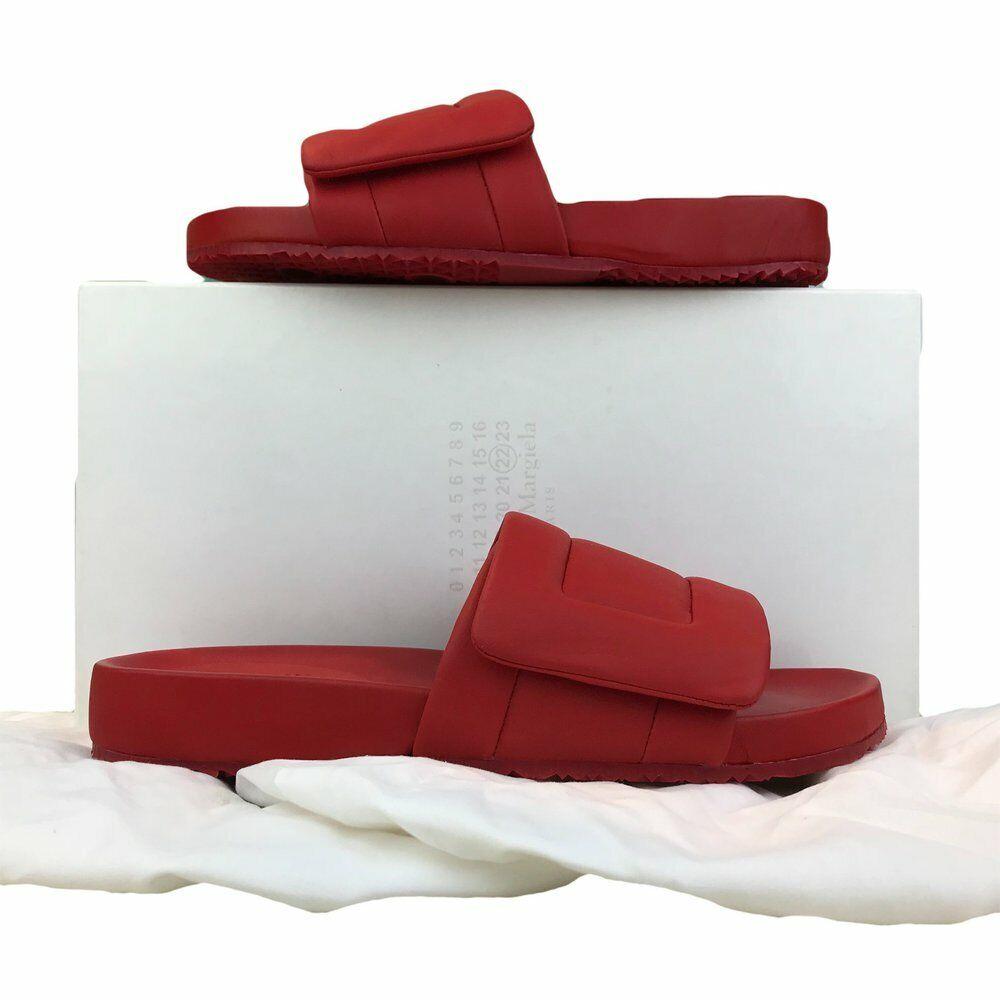 395 MAINSON MARGIELA rosso Rubber Leather  SZ 42 Pool Slides Slides Slides su NUOVO SALE  seleziona tra le nuove marche come