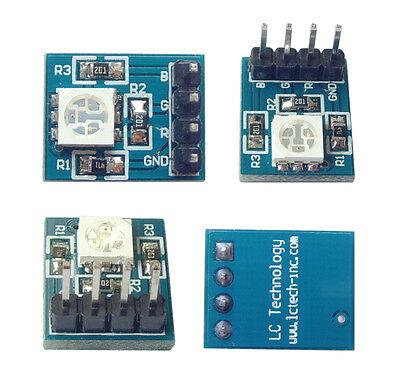 1Pcs 3 Colour RGB SMD LED Module 5050 Full Color LED 3.3-5V for Arduino