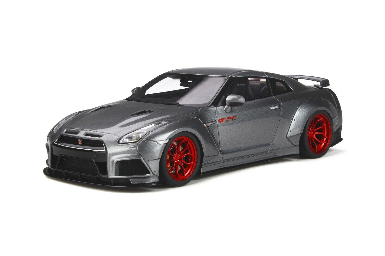 GT Spirit 1 18 Nissan Skyline GT-R R35 Modified by Prior Design 2015 Grey GT243