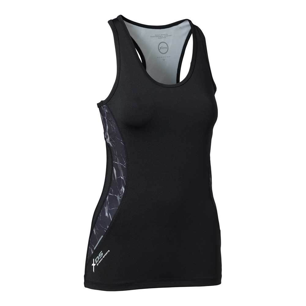 Daily Sports Marble Print Tank Top with Reflective Trim
