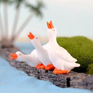 Cg Qu Als 3pcs Miniature Goose Diy Landscape Garden Terrarium